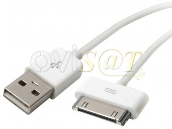 Ipod cable de datos/cargador USB, compatible con iPhone 2G, iPhone 3G, iPhone 4/4s, iPad