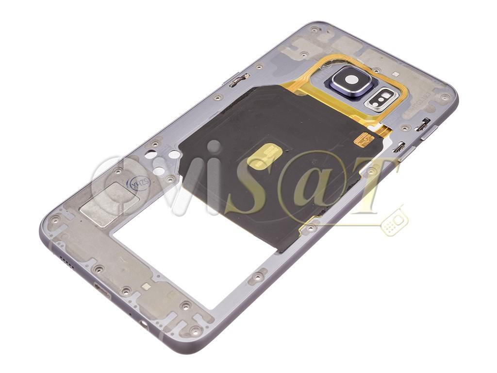 71ab562b3c9 Carcasa central negra sapphire para Samsung Galaxy S6 Edge Plus, G928F.
